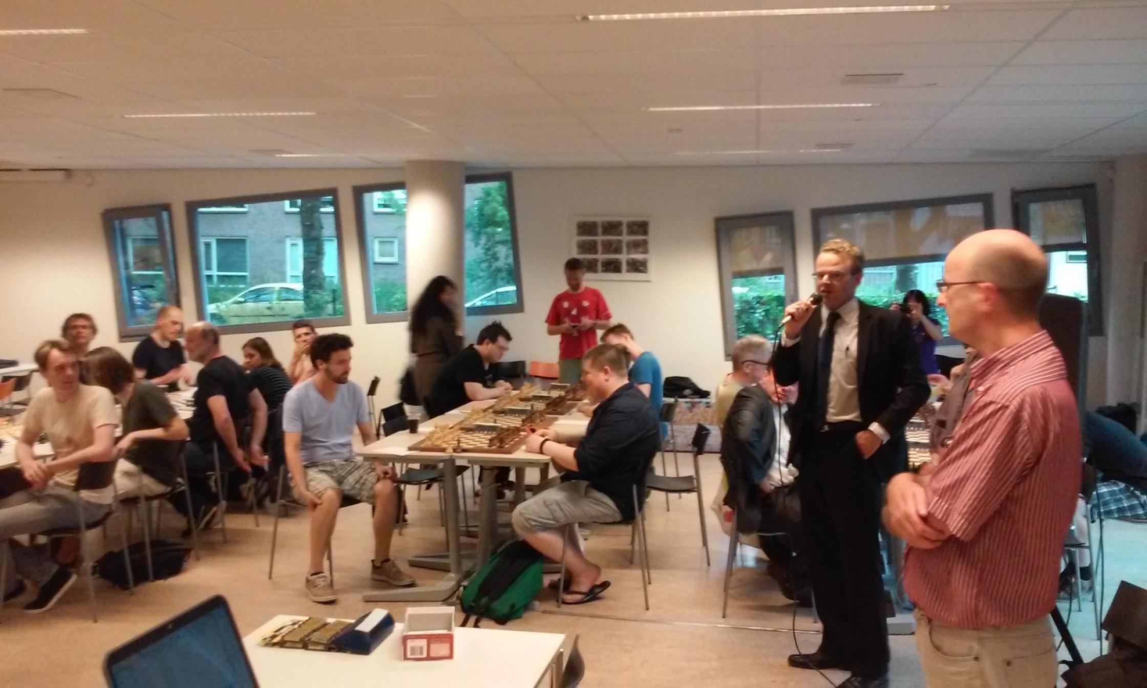 Openingswoord door toernooidirecteur Jan Jaap Janse